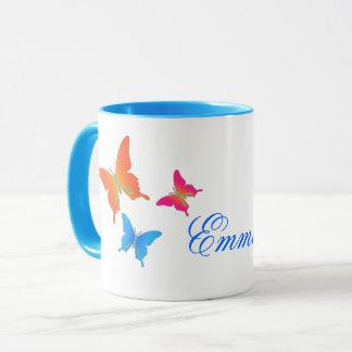Schmetterlings-Kaffee-Tasse Tasse