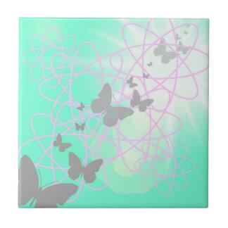Schmetterlings-Keramik-Fliese klein Keramikfliese