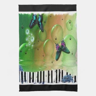 Schmetterlings-Klavier-Schlüssel Küchentuch
