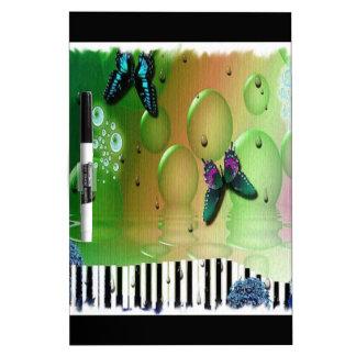 Schmetterlings-Klavier-Schlüssel Memoboard