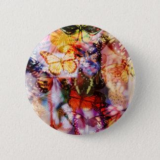 Schmetterlings-Knopf Runder Button 5,7 Cm