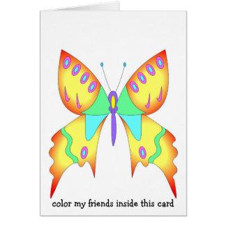 Schmetterlings-König Grußkarte