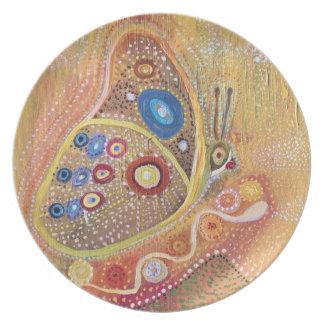 Schmetterlings-Kunst-Malerei-Melamin-Platte Teller