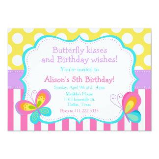 Schmetterlings-Kuss-und Geburtstags-Wunsch-Party Karte