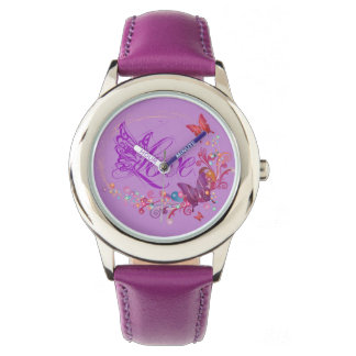 Schmetterlings-Liebe Armbanduhr