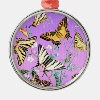 Schmetterlings-lila Mischung Silbernes Ornament