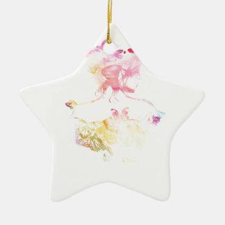 Schmetterlings-Mädchen Keramik Ornament