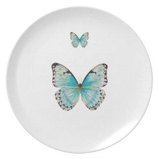 Schmetterlings-Melamin-Platte Costa Ricas doppelte Melaminteller