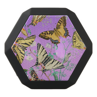 Schmetterlings-Mischung lila Schwarze Bluetooth Lautsprecher