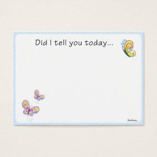 Schmetterlings-Mittagessen-Kasten-Liebe-Anmerkung Visitenkarte