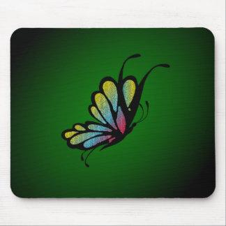Schmetterlings-Mosaik-Grün Mousepad