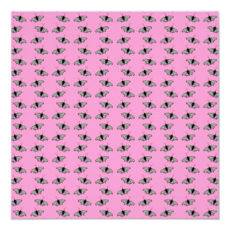 Schmetterlings-Muster auf Rosa Quadratische 13,3 Cm Einladungskarte