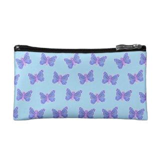 Schmetterlings-Muster - kosmetische Tasche