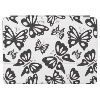Schmetterlings-Muster - Schwarzweiss iPad Air Hülle