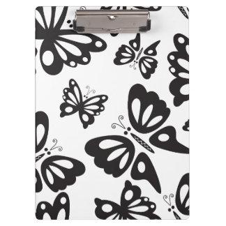 Schmetterlings-Muster - Schwarzweiss Klemmbrett