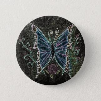 Schmetterlings-Netz Runder Button 5,7 Cm