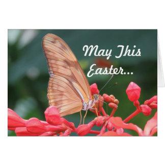 Schmetterlings-Ostern-Gruß Karte