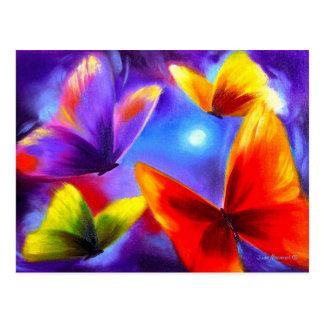 Schmetterlings-Parade-Malerei-Kunst - multi Postkarte