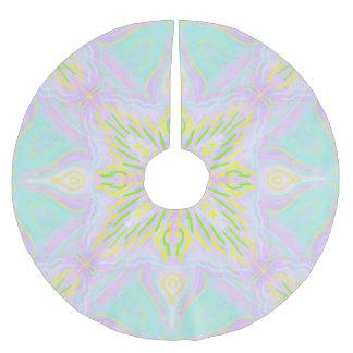 Schmetterlings-Pastell-Mandala Polyester Weihnachtsbaumdecke