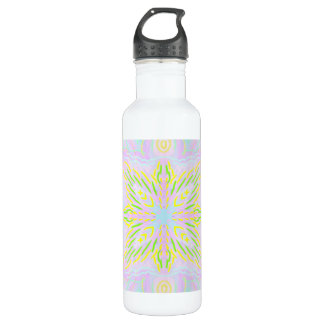 Schmetterlings-Pastell-Mandala Trinkflasche