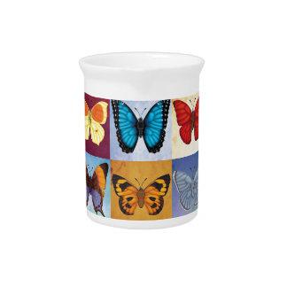Schmetterlings-Patchwork Getränke Pitcher