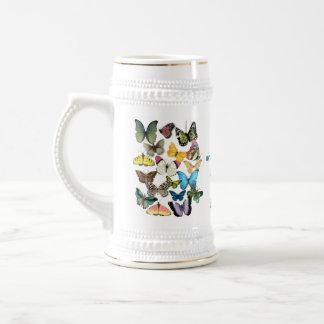 Schmetterlings-personalisierte Tasse der Mutter