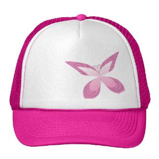 Schmetterlings-rosa Band Trucker Mützen