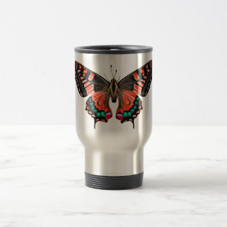 Schmetterlings-rostfreier Reisebecher