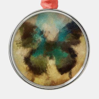 Schmetterlings-Sammlung #2 Rundes Silberfarbenes Ornament