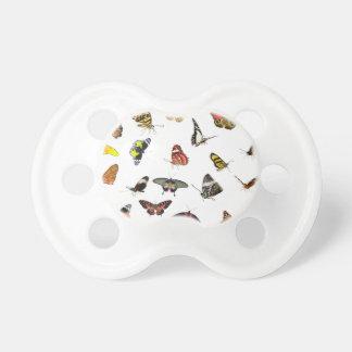 Schmetterlings-Sammlungs-Collage Schnuller