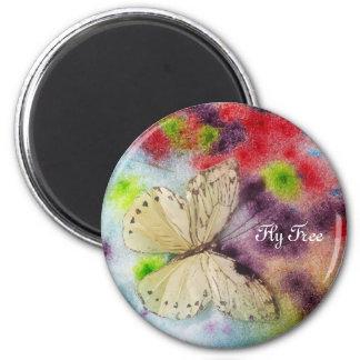 Schmetterlings-Segen Runder Magnet 5,7 Cm