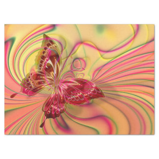 Schmetterlings-Seidenpapier des Pfirsiches rotes Seidenpapier