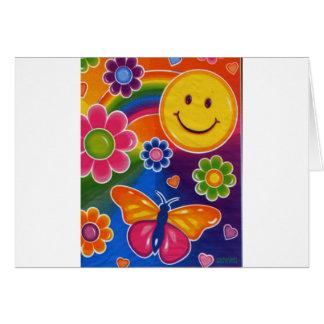 Schmetterlings-Smiley Karte