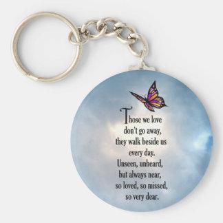 """Schmetterlings-""""so geliebtes"""" Gedicht Schlüsselanhänger"""