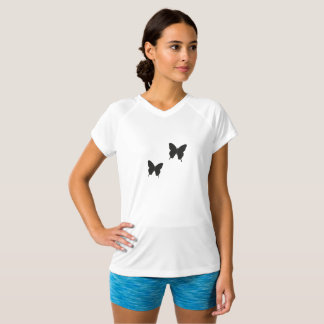Schmetterlings-Spitze durch Josie nahm auf Zazzle T-Shirt