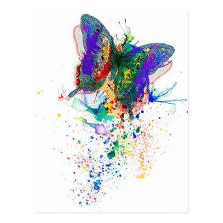 Schmetterlings-Spritzer Postkarte