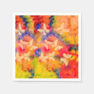 Schmetterlings-Spuren-Papierservietten Serviette