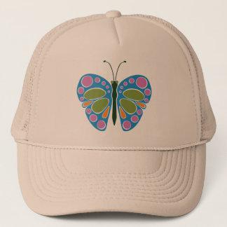 Schmetterlings-Stau: Blau Truckerkappe