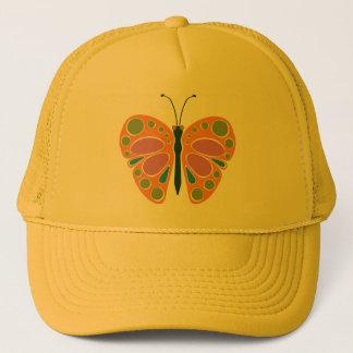 Schmetterlings-Stau: orange Truckerkappe