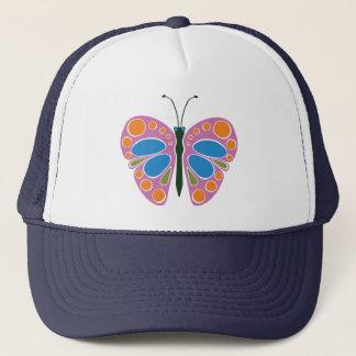 Schmetterlings-Stau: Rosa Truckerkappe
