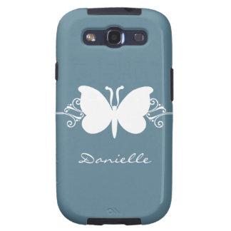 Schmetterlings-Strudel-Samsung-GalaxieS3 Vibe-Fall Samsung Galaxy SIII Hüllen