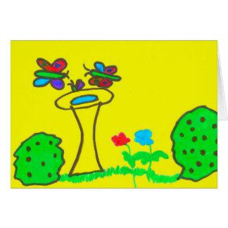 Schmetterlings-Tag Karte