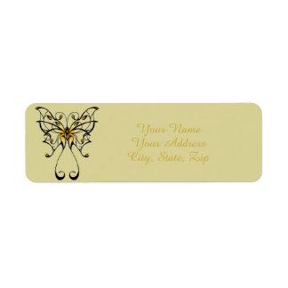 Schmetterlings-Tanz 4 Rückversand-Adressaufkleber