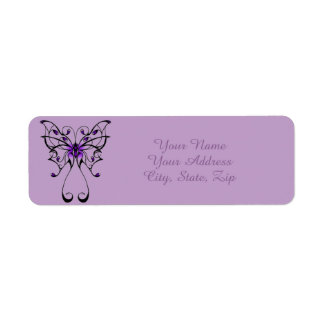 Schmetterlings-Tanz Rückversand-Adressaufkleber