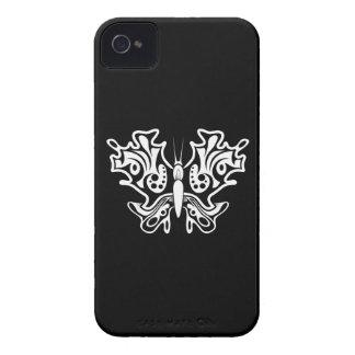 Schmetterlings-Tätowierung Schwarzweiss iPhone 4 Etuis