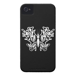 Schmetterlings-Tätowierung Schwarzweiss iPhone 4 Hüllen