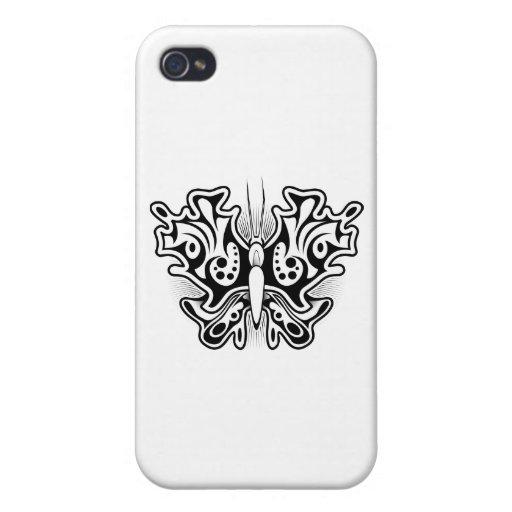 Schmetterlings-Tätowierung Schwarzweiss Schutzhülle Fürs iPhone 4