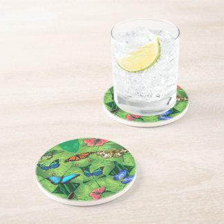 Schmetterlings-trinkender Untersetzer -