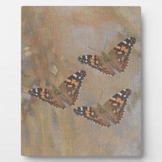 Schmetterlings-Trio Fotoplatte