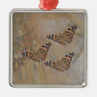 Schmetterlings-Trio Silbernes Ornament